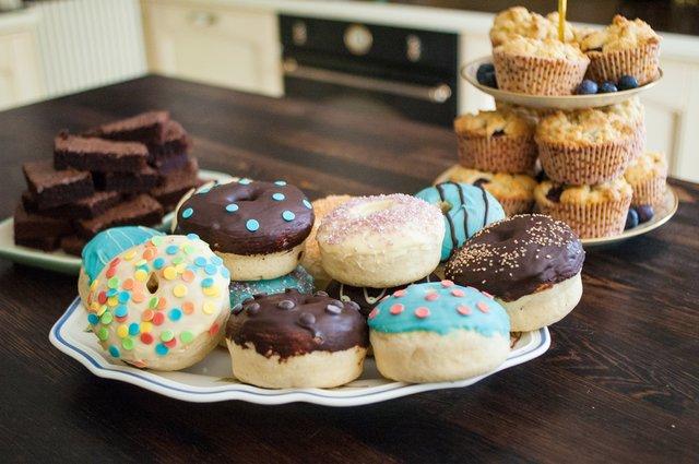 Rezept: Mini-Donuts aus dem Backofen