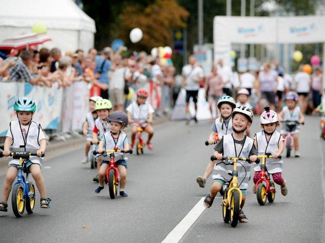 Laufradrennen beim Eschborn-Frankfurt-Rennen